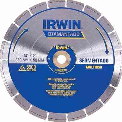 Discos diamantados de corte para vários tipos de material trazem sistema de travamento que garante maior segurança ao usuário - Irwin/Divulgação