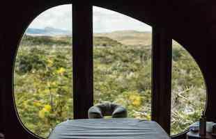 Estruturas são uma forma diferente de hospedagem na paisagem deslumbrante da Patagônia chilena