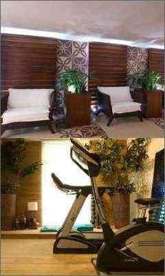 Alpendre e Sala de Ginástica: ares de sala de estar, e tecnologia com toque rústico  - Inés Antich e Mayra Bernardina/Divulgação