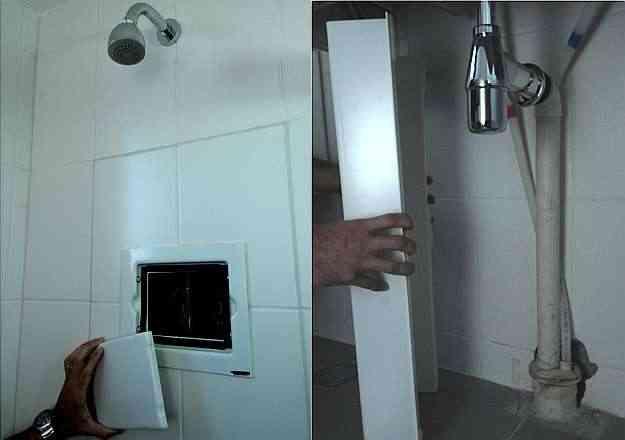 Facilitar o acesso às instalações elétricas e hidráulicas evita que o morador quebre paredes, gerando resíduos em caso de reformas e manutenção - Marcos Vieira/EM/D.A Press