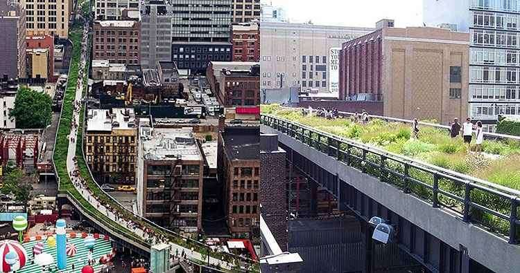 High Line Park, nos EUA, é inspirado na proposta francesa - Reprodução/Internet