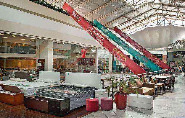 O Ponteio Lar Shopping promove todos os anos sua tradicional liquidação para troca de showroom  - Ponteio Lar Shopping/Divulgação