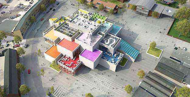 A Lego House deve ser inaugurada em 2016, na cidade de Billund, na Dinamarca - LEGO Group/Divulgação