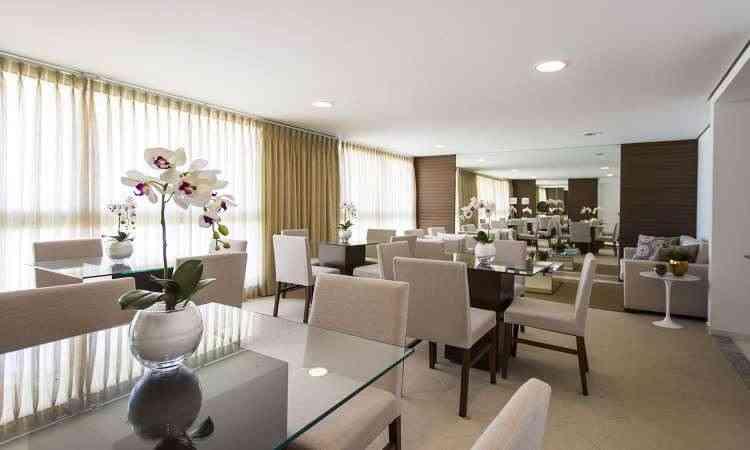 Imagens de um apartamento montado também são divulgadas pela construtora - OAS/Divulgação