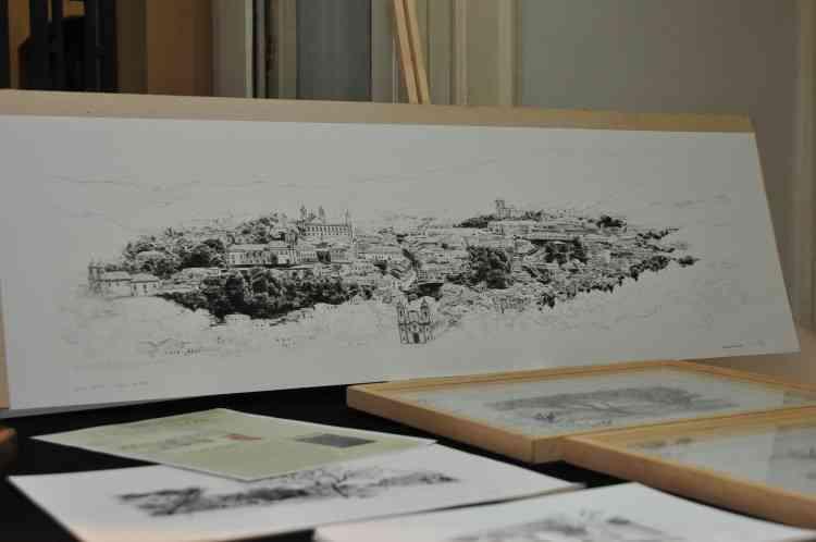 Desenhos representando cidades históricas mineiras - Gladyston Rodrigues/EM/D.A Press