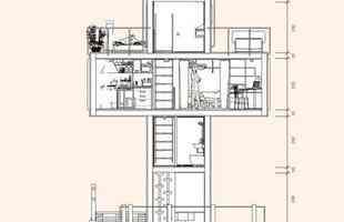 Projeto prevê usar contêineres para construir casa em formato de cruz. A residência será dividida em quatro pavimentos a partir da colocação cruzada dos antigos compartimentos de carga