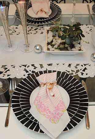 Toalha de renda branca deve contrapor com cores das taças e louças - Gladyston Rodrigues/EM/D.A press