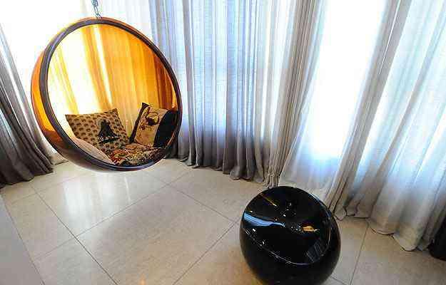 Na varanda, a Bubble, clássico do design, convida a momentos de relaxamento - Euler Junior/EM/D.A Press