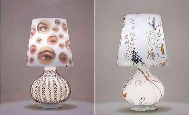Luminárias customizadas por Isabela Vecci e Graça Otoni, na exposição 'Reinvenção', na Abatjour de Arte - Circuito Dmais/Divulgação