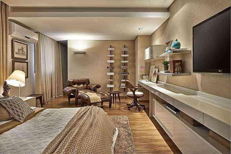 O quarto possui 23m², sem contar closets e banheiros - Jomar Bragança/Divulgação