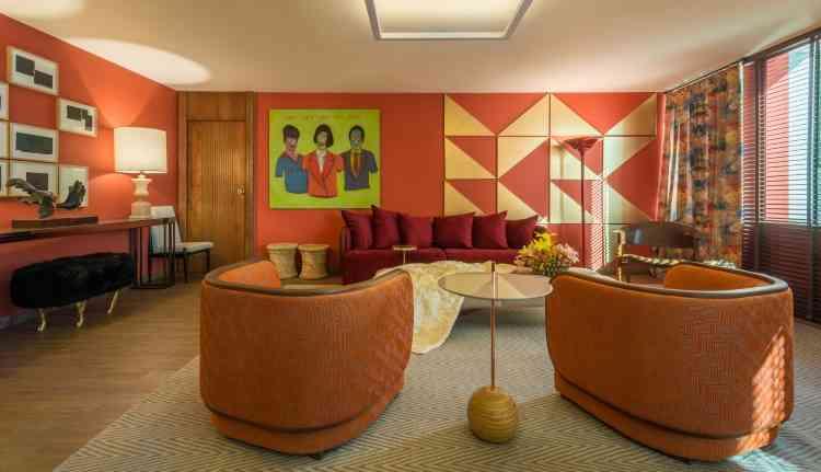 Projeto da designer de interiores Melina Mundim: composição das nuances e móveis proporciona ambiente aconchegante - Rodrigo Tozzi/Divulgação