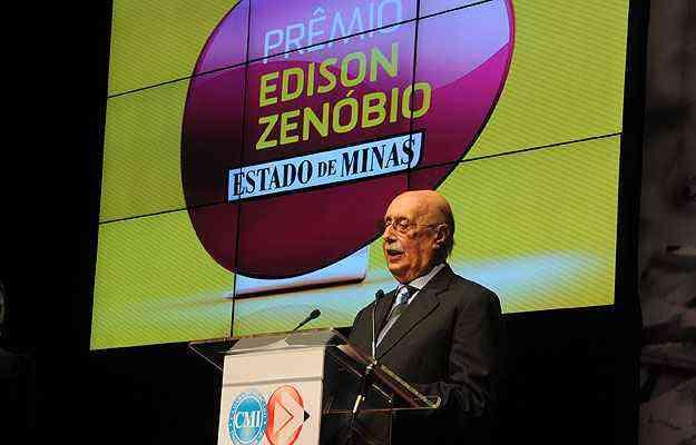 Diretor-geral dos Diários Associados, Édison Zenóbio destacou no discurso de abertura as empresas que ajudaram no crescimento e desenvolvimento do estado - Marcos Vieira/EM/D.A Press