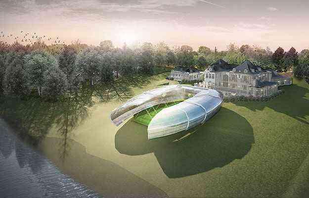 O estádio em miniatura tem capacidade para um público selecionado de 100 pessoas - Populous/Divulgação