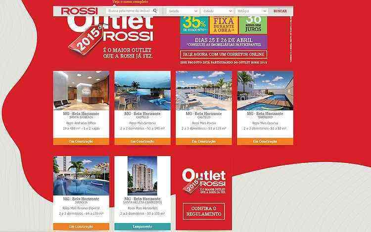 Outlet Rossi/Divulgação