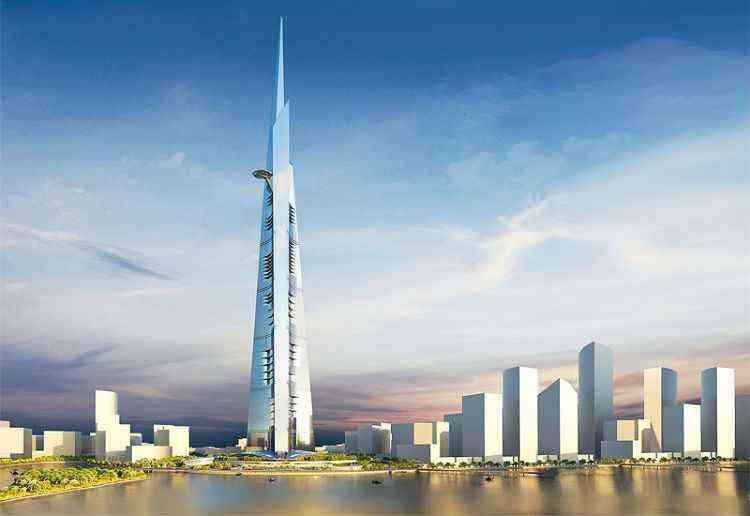 Perspectiva artística da Kingdom Tower, em Dubai, que está prevista para ser entregue em 2020 - Kingdom Tower/Divulgação
