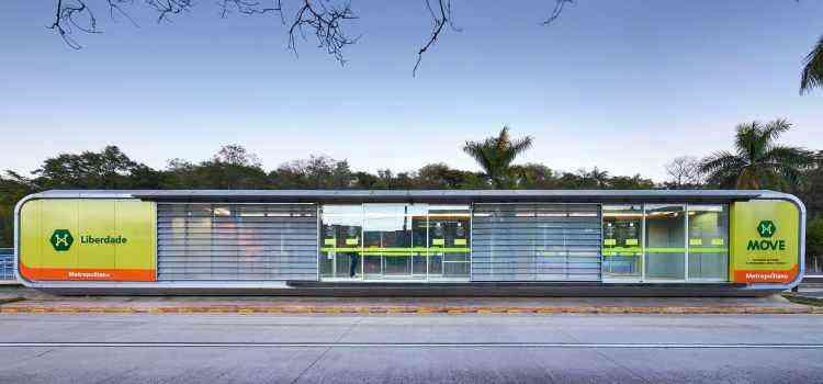 O projeto do BRT de BH, assinado pelo escritório Gustavo Penna, foi escolhido pelo voto popular - divulgação / Architizer
