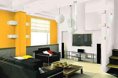 Na sala, um exemplo do conceito Ornamental da Suvinil: crisântemo amarelo e filme de amor (tom de branco) estão em harmonia  - Divulgação