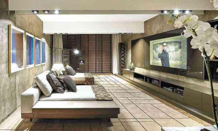 Neste Home Theater, a ideia é apresentar soluções completas de som, áudio, iluminação e automação - Jomar Bragança/Divulgação