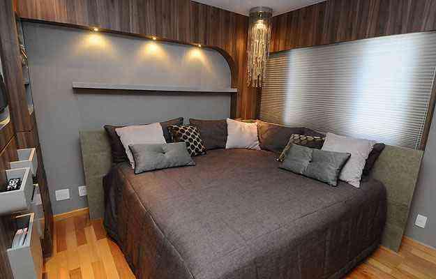O quarto de 9 m² recebeu uma cama de casal de 4 m² - Euler Junior/EM/D.A Press