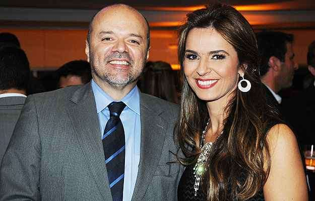 Ricardo Nunes, da RC Nunes, com a esposa, Juliana. A empresa foi certificada na edição 2014 do Prêmio Edison Zenóbio - Marcos Vieira/EM/D.A Press