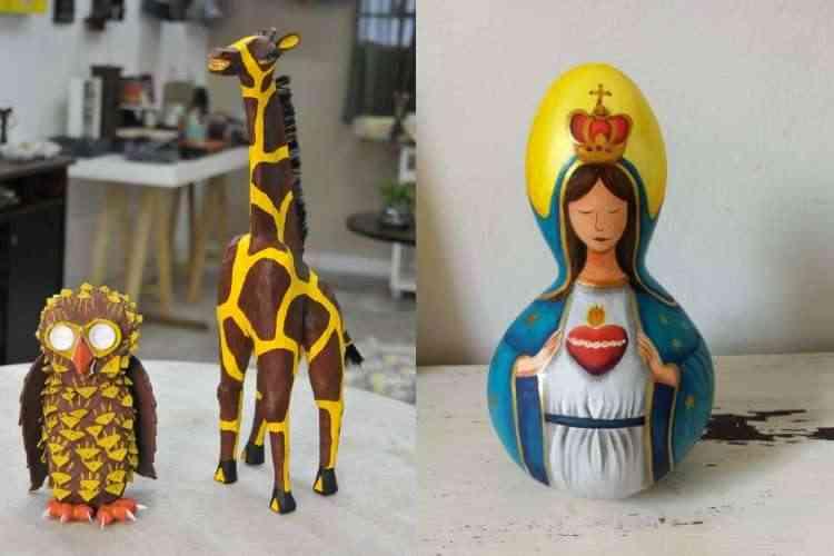 Peças artesanais criativas para compor os ambientes são destaque  - Juarez Rodrigues/EM/D.A Press e Divulgação