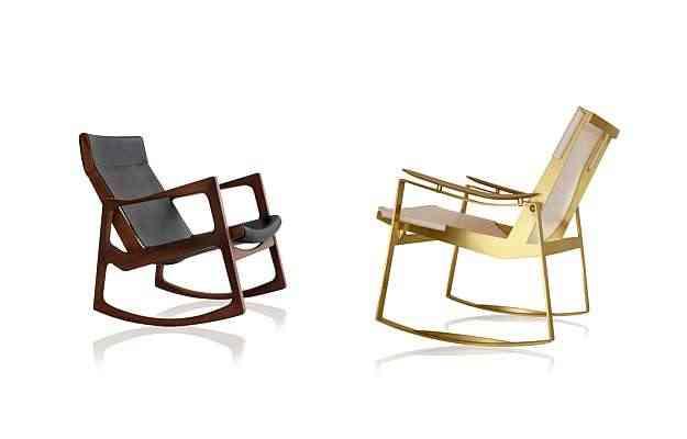 Cadeiras Euvira (esq.) e Licci (dir.), de Jader Almeida, evocam a afetividade do móvel, inovando no design - Eduardo Câmara/Araci Queiroz/Divulgação