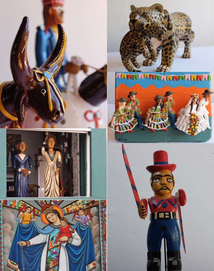 Na loja Brasileirinho, em Tiradentes, o foco do casal André Malta e Priscila Costa é a cultura e a arte popular brasileira, em uma rica lista de objetos - Loja Brasileirinho/Divulgação