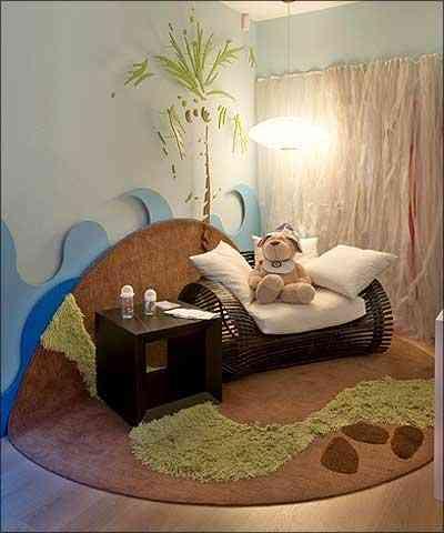 Quarto de bebê projetado pela arquiteta e decoradora Luciana Savassi, na Casa Cor 2006 - Jomar Bragança/Divulgação