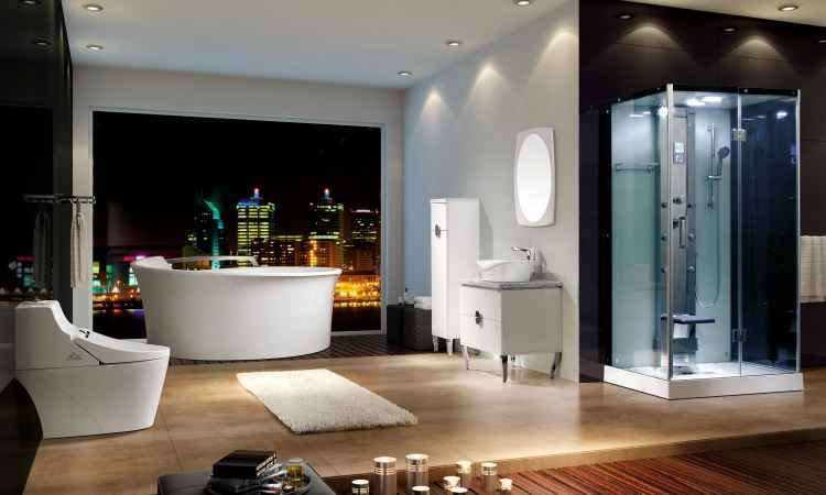 Vantagem de uma air massage (com jatos de ar) é que ela é solta, podendo ser levada para outro endereço - Doka Bath Works/Divulgação