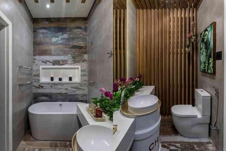 Banho do Casal: Audrey Guimarães, Cláudia Lima e Haruna Hama - Ivan Araújo/Fotografia de Arquitetura/Divulgação