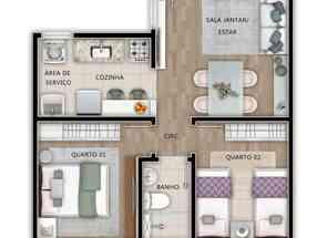 Apartamento, 2 Quartos, 1 Vaga em Planalto, Belo Horizonte, MG valor de R$ 231.000,00 no Lugar Certo