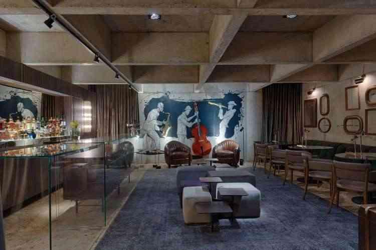 Carolina Jardim e Aline Castello Branco - Um bar aconchegante em um espaço subterrâneo, inspirado no músico Pacífico Mascarenhas  - Gustavo Xavier/Divulgação