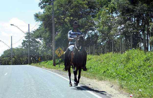 A região concentra ainda um ar bucólico e tem 80% de sua área totalmente rural - Edésio Ferreira/EM/D.A Press