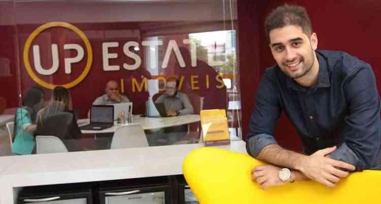 Matheus Penna, diretor de negócios e sócio da Up Estate, diz que uma vantagem oferecida aos franqueados é o seguro-fiança - Jair Amaral/EM/D.A Press