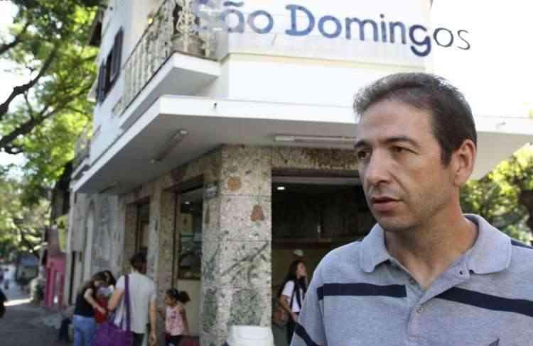 Domingos Dias, dono da Sorveteria São Domingos, diz que viu o Funcionários crescer - Rodrigo Clemente/EM/D.A Press - 3/10/14