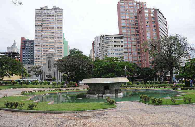 A Praça Raul Soares é uma das principais referências do bairro que fica na Região Centro-Sul de Belo Horizonte - Cristina Horta/EM/D.A Press
