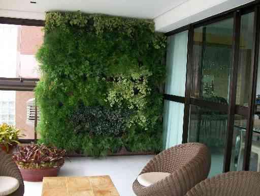 Jardim vertical criado pela paisagista Erly Hooper dá vida ao ambiente e aproxima a natureza dos moradores e dos visitantes - Arquivo Pessoal/Divulgação