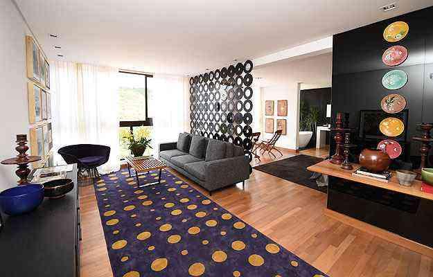 No Apartamento do Hóspede, a beleza vem da mescla de cores e texturas - Leandro Couri/EM/D.A Press