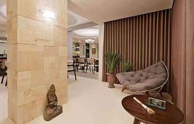 Ana Livia Werdine também transformou esta varanda em um espaço zen - Henrique Queiroga/Divulgação