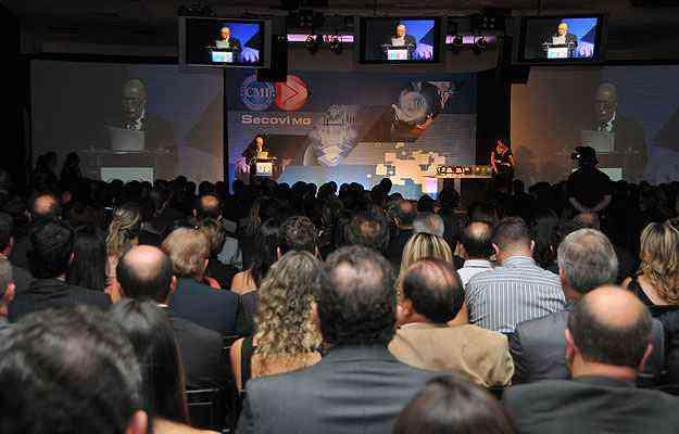 Premiação contou com a presença dos principais representantes do mercado imobiliário mineiro - Marcos Vieira/EM/D.A Press