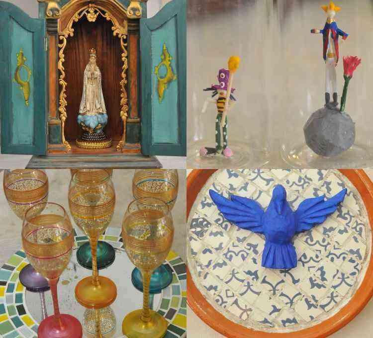 Itens feitos à mão são o ponto alto do trabalho do centro cultural e loja Brilho Handmade Art  - Jair Amaral/EM/D.A Press