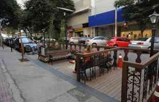 Parklet da Rua dos Goitacazes, no Centro
