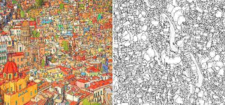 Guanajuato, no México, à esquerda e a Rocinha, no Rio, à direita - Divulgação