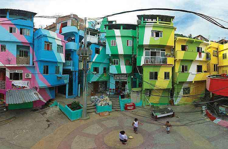 Favela Santa Marta, no Rio de Janeiro - Haas & Hahn/Divulgação