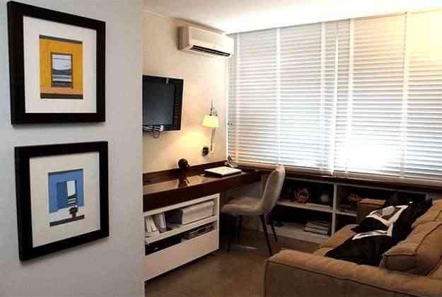 Detalhe do projeto de decoração de apartamento para solteiro - Valério Ayres/Esp. CB/D.A Press