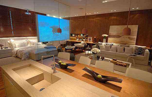 Loft da Decoradora, ambiente apresentado por Denise Vilela na Casa Cor MG, em 2011 - Alexandre Guzanshe/EM/D.A Press