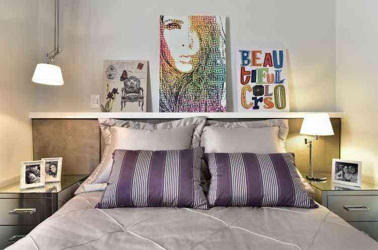 Telas apoiadas em móveis no quarto ou na sala criam um efeito interessante na decoração - Sidney Doll/Divulgação