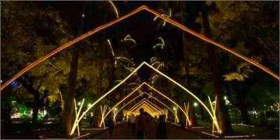 Decoração da Praça da Liberdade em 2006. Luz cria universo mágico, mas é preciso pensar na natureza - Emmanuel Pinheiro/EM/D.A Press - 12/12/06
