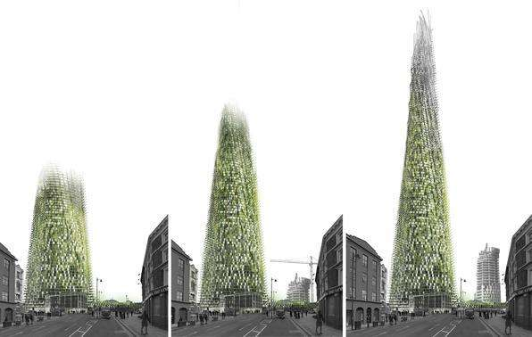 Arquiteto propõe um edifício que cresce à medida que seus habitantes reciclam lixo