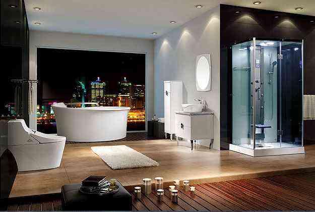 A banheira com cromoterapia, air massage e termoterapia tem estilo e combina bem em qualquer ambiente - Doka Bath Works/Divulgação